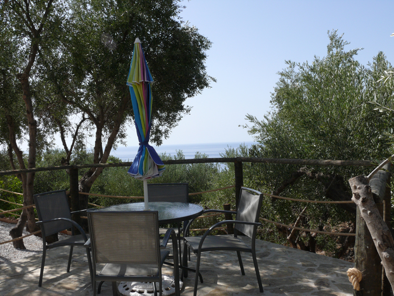 Villa Artemis Garden Table View.